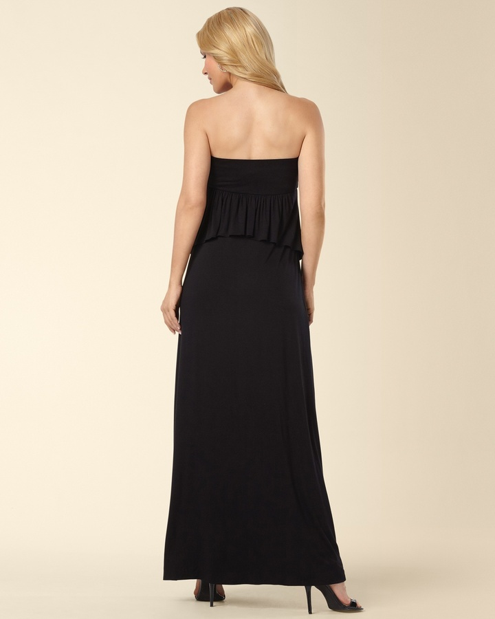 Soma Intimates Peplum Maxi Dress