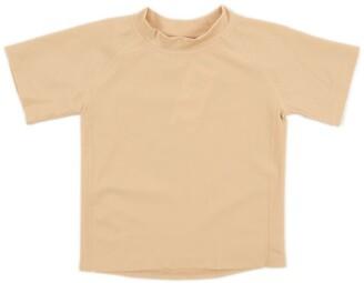 Leveret Short Sleeve UPF +50 Rash Guard - Beige