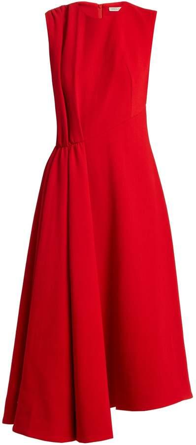 Emilia Wickstead Vivian round-neck pleat-detail wool dress