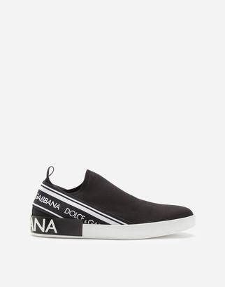 Dolce & Gabbana Portofino Slip-On Sneakers In Mesh