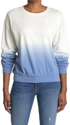Elodie K Dip Dye Crew Neck Sweatshirt