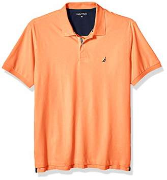 Nautica Men's Big and Tall Short Sleeve Solid Deck Polo Shirt