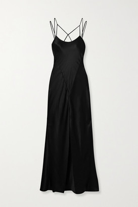 Kiki de Montparnasse Cage Open-back Silk-charmeuse Gown - Black