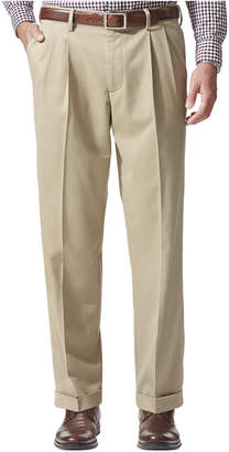 Dockers Men Comfort Relaxed Pleated Cuffed Fit Khaki Stretch Pants