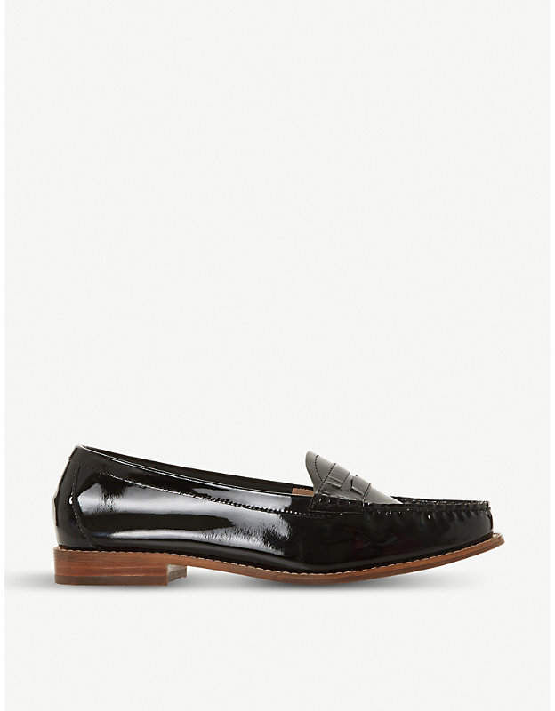 Dune Glossy patent-leather loafers