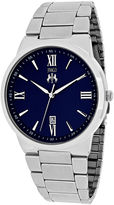 Jivago Clarity Mens Blue Dial and Silver-Tone Bracelet Watch