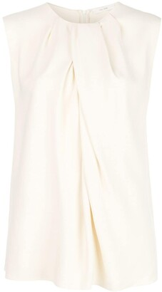 The Row Sleeveless Flared Blouse