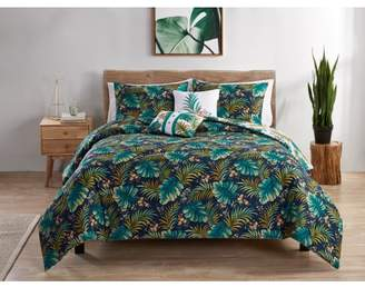 Vcny Home VCNY Home Key West Reversible Tropical Comforter Set, Queen Multi