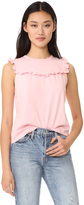 Rebecca Taylor Sleeveless Ruffle Top