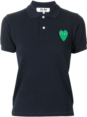 Comme des Garcons Embroidered-Logo Short-Sleeved Polo Shirt