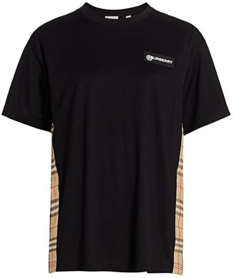Burberry Carrick Check Inset Tee