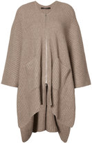 Derek Lam asymmetric ribbed cardigan - women - Silk/Cashmere - S