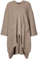 Derek Lam asymmetric ribbed cardigan - women - Silk/Cashmere - XS