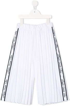 Lapin House Pleated Logo Band Trousers