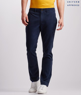 Uniform Slim Straight Flat-Front Pants