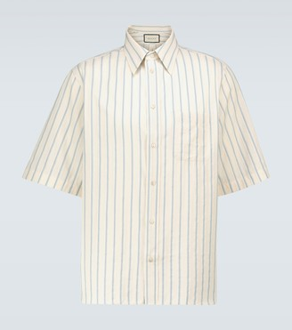 Gucci Short-sleeved textured shirt