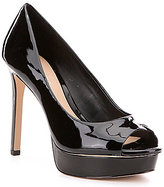 Gianni Bini Jaymie Patent Leather Peep Toe Platform Stiletto Pumps