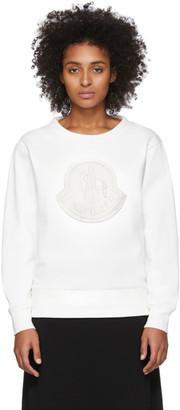 Moncler White Logo Sweatshirt