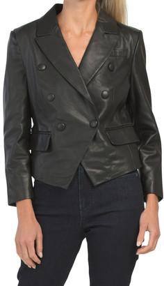 Leather Cropped Blazer