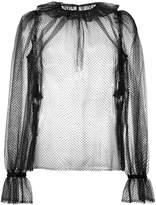 Dolce & Gabbana transparent ruffle blouse