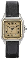 Cartier Santos Date 110000R Stainless Steel & 18K Gold 26.5mm with Ivory Dial Womens Watch