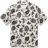 Junya Watanabe Camp-collar Printed Woven Shirt