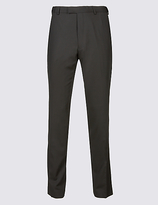 M&s Collection Black Tailored Fit Dinner Trousers