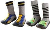 Leapfrog Infant Baby Cartoon Patterned Soft Rubber Bottom Anti-slip Floor Socks Boots US 9.5