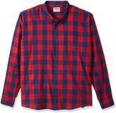 Wrangler Men's Big-tall Authentics Big & Tall Long Sleeve Premium Plaid Shirt