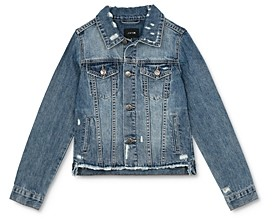 Joe's Jeans Girls' Distressed Denim Jacket - Big Kid