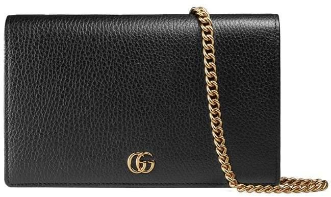 66d7b9d8f59 Gucci Shoulder Bag With Chain Strap - ShopStyle