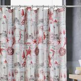 Sail Away Shower Curtain - Red