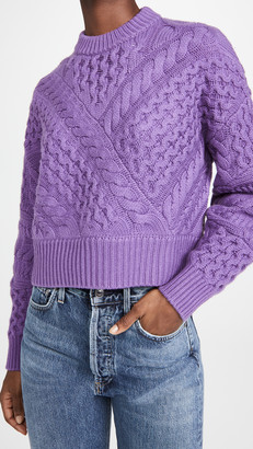 Naadam Cable Crew Cashmere Pullover