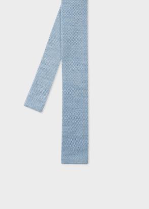 Men's Sky Blue Knitted Wool Tie