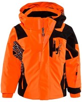 Spyder Orange Mini Quest Challenger Ski Jacket