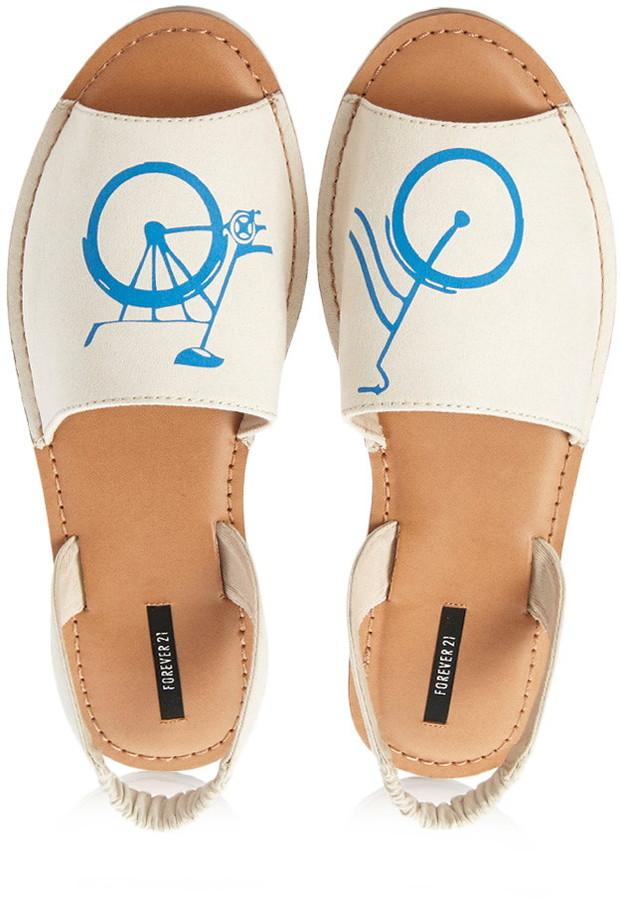 Forever 21 Bicycle Sling-Back Sandals