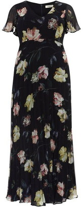 Studio 8 Megan Floral Pleated Maxi Dress