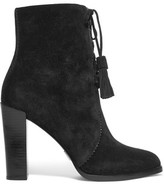 Michael Kors Odile Leather-Trimmed Suede Boots