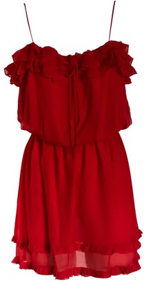 Onelady Silk Short Dress Red Marcella
