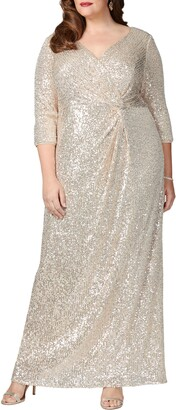 Alex Evenings Sequin Column Gown