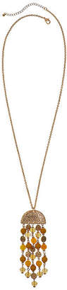 MIXIT Mixit Mustard 30 Inch Cable Beaded Necklace
