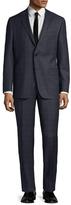 Hickey Freeman Checkered Intarsia Notch Lapel Suit
