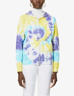 BAPE Tie-dye cotton-jersey hoody