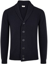 John Smedley Navy Wool And Cashmere Blend Cardigan