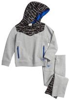 Armani Junior Boy's Geo Track Hoodie & Pants Set