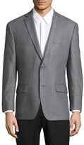 Michael Michael Kors Slim Fit Check Silk-Wool Blend Jacket