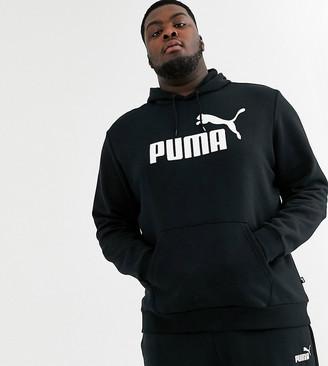 Puma Plus Essentials pullover hoodie in black 85174301