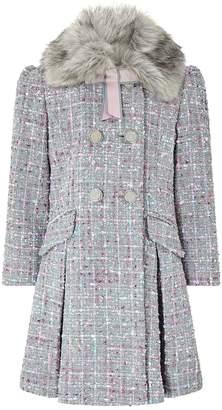 Monsoon Girls Tabitha Tweed Coat - Grey