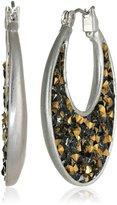 Kenneth Cole New York Faceted Bead Sculptural Hoop Earrings