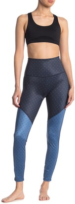 Beyond Yoga Luxe Dotted Colorblock High Waisted Leggings